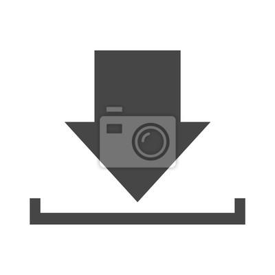 Download-symbol, upload-schaltfläche, ladesymbol fototapete ...