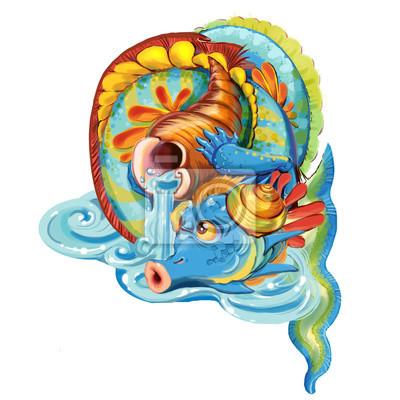 Dragon of the lord seas, rivers and lakes fototapete • fototapeten ...