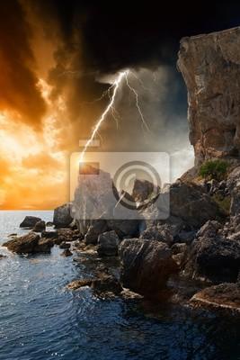 Dramatische Natur Hintergrund