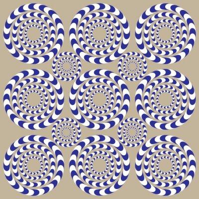 Fototapete Drehkreise (Illusion)