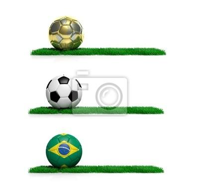Drei Fahnen mit 2014 Mundial Thema Ball