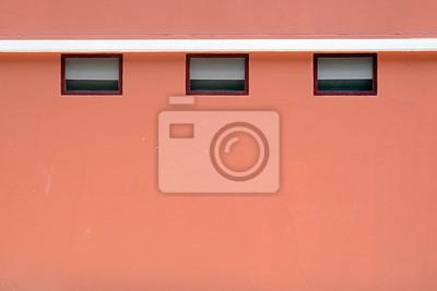 Drei trockner vent auf einer backsteinmauer farbe fototapete