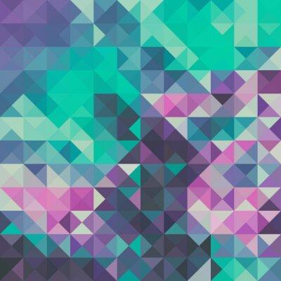Fototapete Dreieck Hintergrund, Grün und Violett