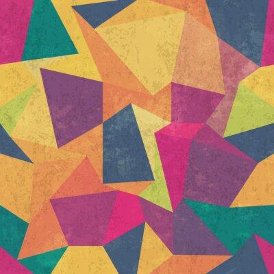 Fototapete Dreieckmuster. Bunt, grunge und nahtlos. Grunge-Effekte