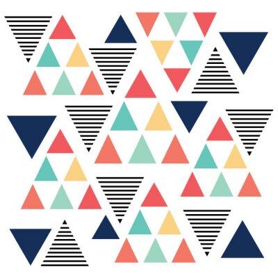 Fototapete Dreiecksmuster Farbvariation