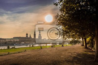 Dresden in wundervoller Abendstimmung