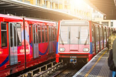Fototapete Driverless Züge am Bahnhof in London