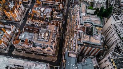 Fototapete Drohne Foto von London, Mayfair.