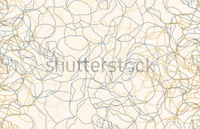 Fototapete Druckbarer nahtloser Weinlesegekritzelwiederholungsmusterhintergrund. Tapete, Rasterillustration in der super hohen Auflösung.