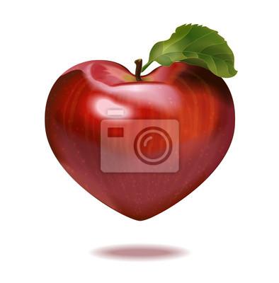 Drucken Apfelherz