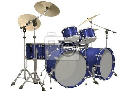 Drum Kit auf einem weißen Hintergrund