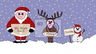Weihnachten Animation.Fototapete Du Fehlst Uns Frohe Weihnachten Cartoon