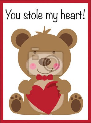 Du Hast Mir Mein Herz Gestohlen Fototapete Fototapeten Teddie
