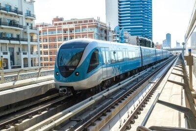 Fototapete Dubai Metro Eisenbahn