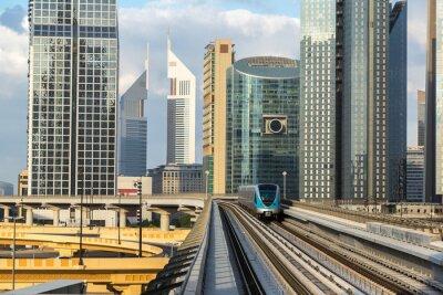 Fototapete Dubai U-Bahn