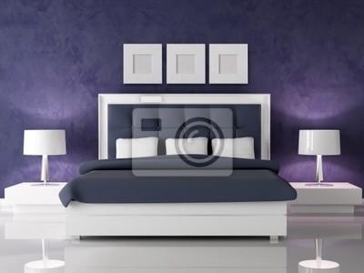 Dunkel lila schlafzimmer fototapete • fototapeten gesteppt, Samt ...