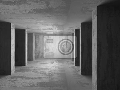 Beton In Interieur : Dunklen leeren keller beton raum interieur fototapete