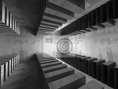 Beton In Interieur : Dunklen leeren keller beton raum interieur minimalistischer