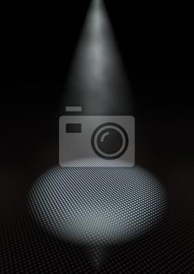 Dunkler Raum Mit Scheinwerfer Fototapete Fototapeten Rampenlicht