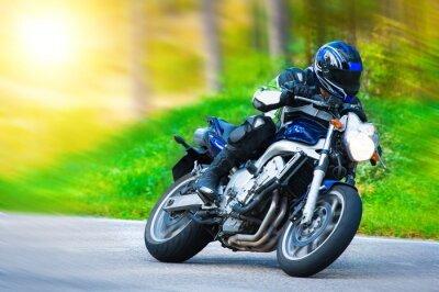 Fototapete Dynamisches Motorradrennen