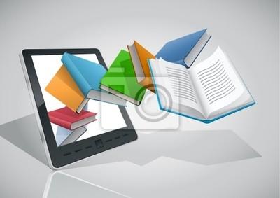E-Book-Reader und alle Bücher.