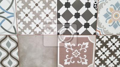 Fototapete Echte Keramik Textur Aus Vintage Fliesen. Spanischen Stil  Nahtlose Muster