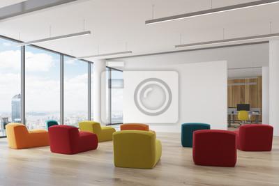 Ecke Eines Farbigen Sessel Buro Klassenzimmer Fototapete