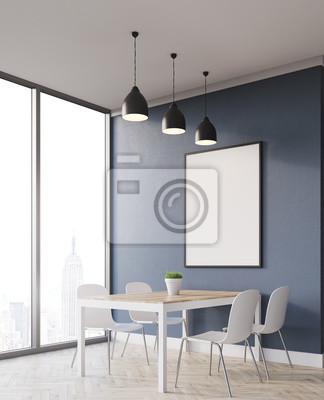 wohnung mit minimalistischem weisem interieur design new york, ecke essbereich in new york wohnung fototapete • fototapeten, Design ideen