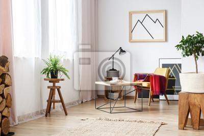 Ecke Mit Sessel Und Beistelltisch Fototapete Fototapeten