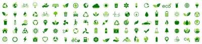 Fototapete Ecology icon set. Ecofriendly icon, nature icons set on white background. Vector illustration