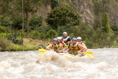 Fototapete Ecuador Wildwasser-Fluss-Flößen