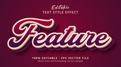 Fototapete Editable text effect, Feature text on maroon color combination style