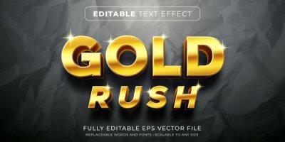 Fototapete Editable text effect in elegant gold style