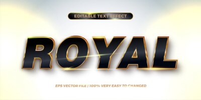 Fototapete Editable text effect - Royal text style concept
