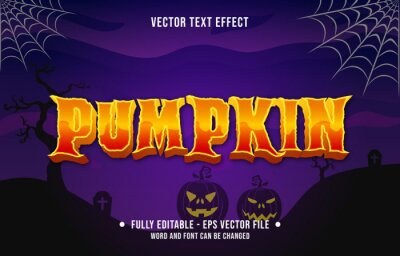 Fototapete Editable text effect scary halloween event theme style for digital and print media template
