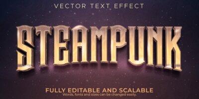 Fototapete Editable text effect, steampunk vintage text style