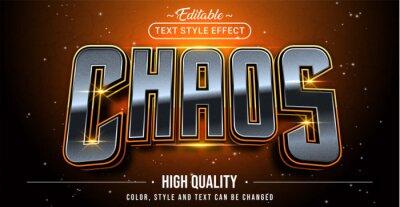 Fototapete Editable text style effect - Chaos text style theme