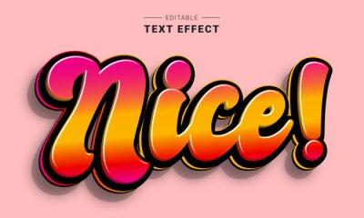 Fototapete Editable text style effect - Graffiti text style theme.