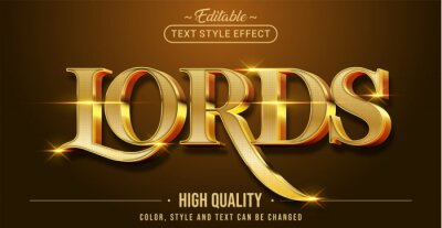 Fototapete Editable text style effect - Lords text style theme.