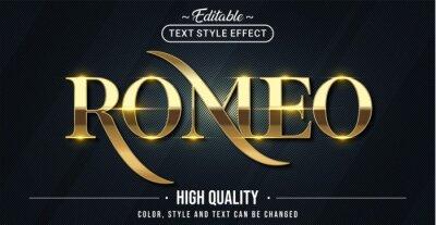 Fototapete Editable text style effect - Romeo text style theme.