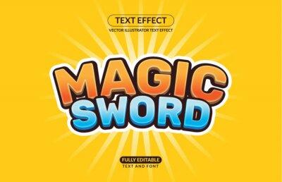 Fototapete Editable Vector Text Effect For Branding, Mockup, Social Media Banner, Cover, Book, Games, Title