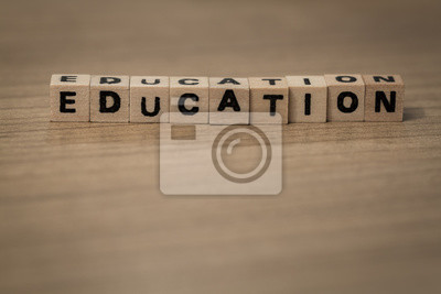 Education in wooden cubes