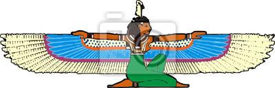 Egipcjanin ze skrzydłami ptaka
