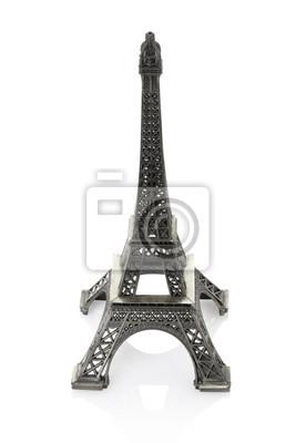 Eiffel Tower-Modell isoliert, Clipping-Pfad enthalten