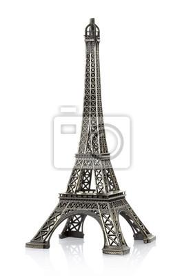 Eiffel-Turm auf weiß, Clipping-Pfad enthalten