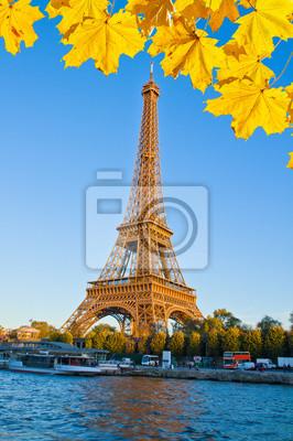 Fototapete Eiffelturm und Seine, Frankreich