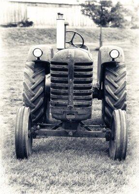 Fototapete Ein alter Traktor - Lightly Toned