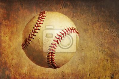 Ein Baseball auf einem Grunge strukturierten Hintergrund
