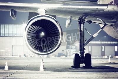 Fototapete Ein Flugzeug Turbine Detail