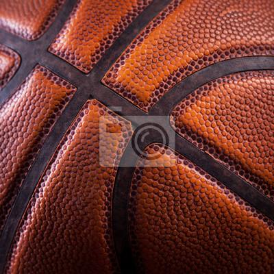 Ein Fragment einer Basketballkugel